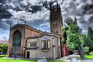 St. Mary Magdalene Church in Taunton, England where Gabriel Westover was Christened in 1567. His son, also named Gabriel, was Christened there in 1593.