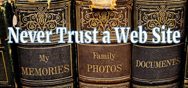 Never Trust a Web Site