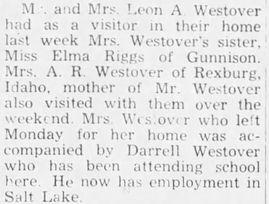 Westovers in the Richfield Reaper