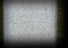 Hannah Beal Sceva Headstone