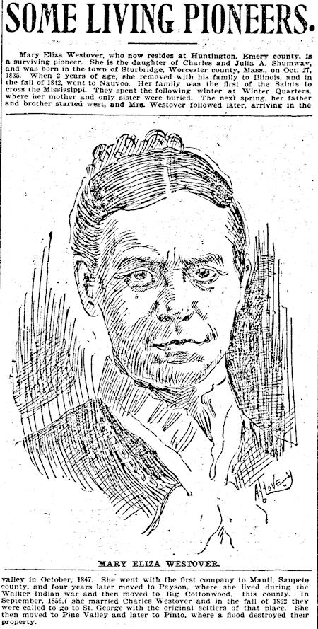 Mary Eliza Shumway Westover