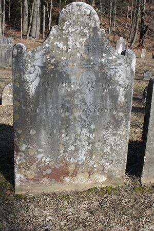 Grave of Job Westover of Sheffield